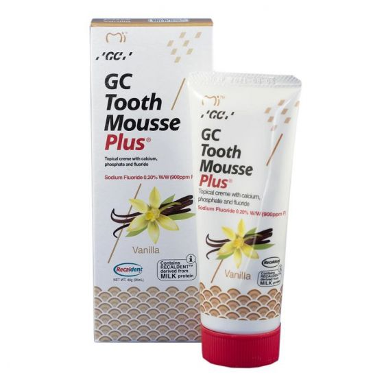 GC Tooth Mousse + Fluoride with Recaldent Vanilla Flavour 40g
