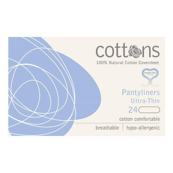 Cottons Ultra Thin Panty Liners 24 Pack