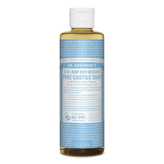 Dr. Bronner's Pure-Castile Liquid Soap Baby-Unscented 237ml