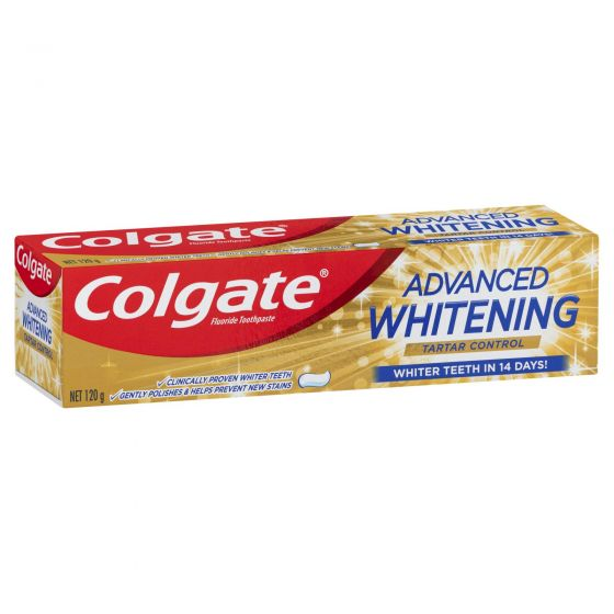 Colgate Advanced Whitening Tartar Control Whitening Toothpaste with Microcleansing Crystals 120g