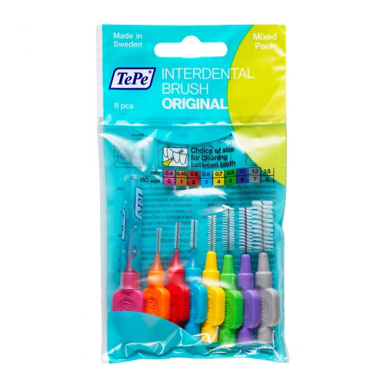 Tepe Interdental Brush Mixed 8 Pack