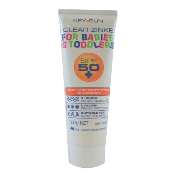 Key Sun Clear Zinke For Babies & Toddlers SPF50+ 100g