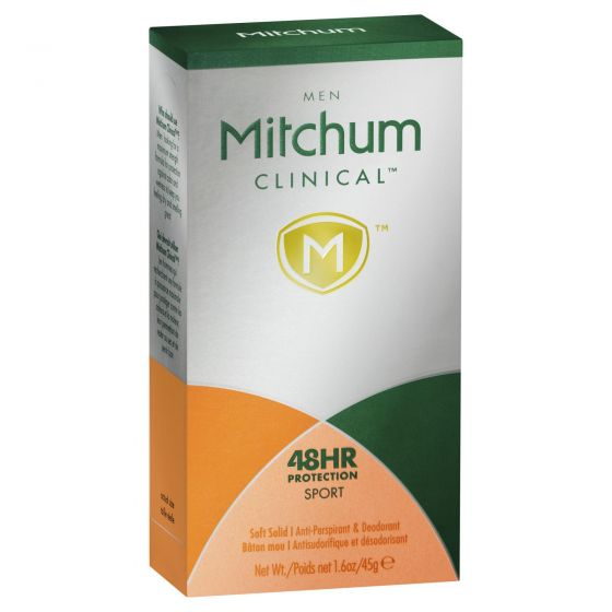 Mitchum Men Clinical 48Hr Protect Sport Anti Perspirant/Deodorant 45g