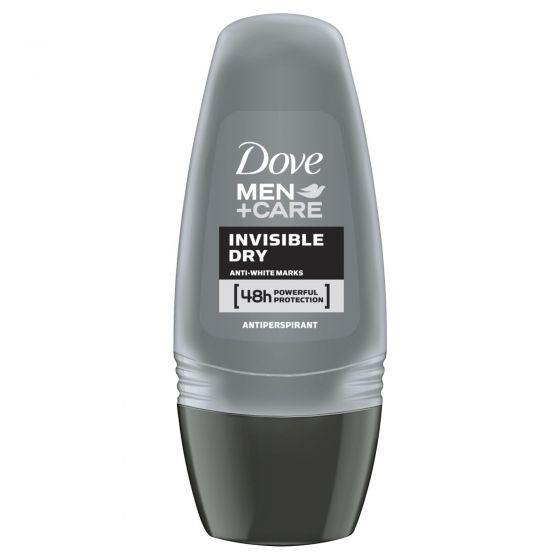 Dove Men+Care Antiperspirant Roll On Deodorant Invisible Dry 50mL