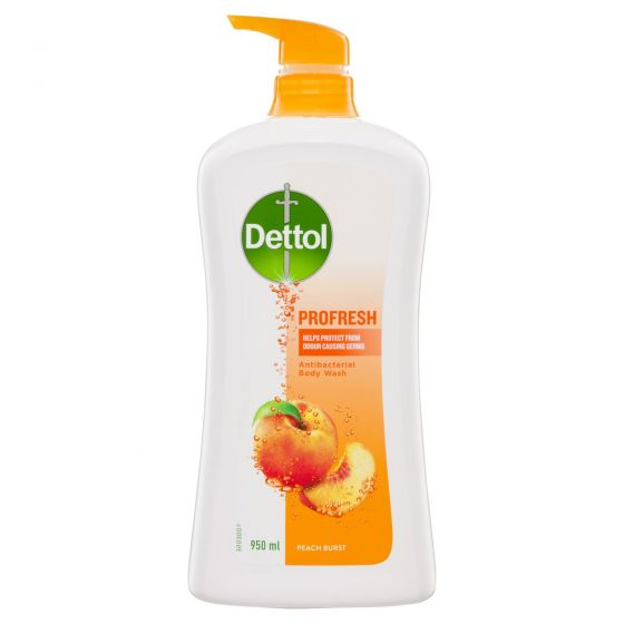 Dettol Profresh Shower Gel Body Wash Peach and Raspberry 950mL