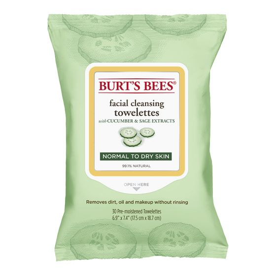 Burt's Bees Facial Cleansing Towelettes With Cucumber & Sage Extracts 30