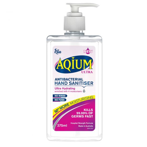 Ego Aqium Ultra Anti-Bacterial Hand Sanitiser 375ml