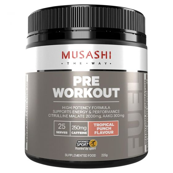 Musashi Pre Workout Tropical Punch 225g