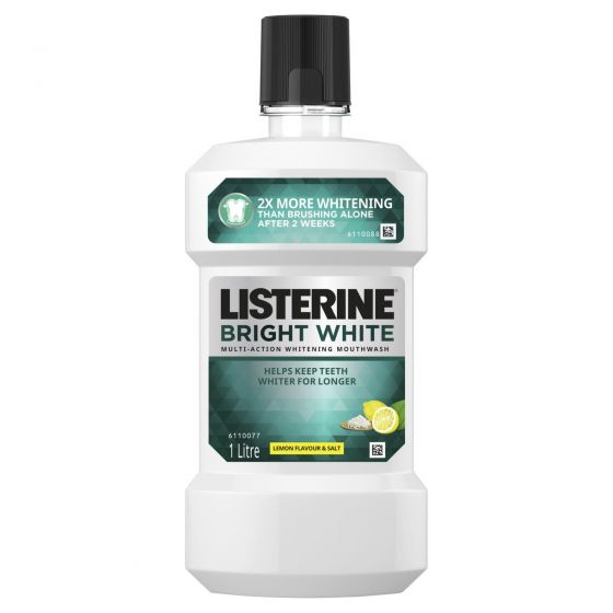 Listerine Bright White Multi-Action Whitening Mouthwash 1L