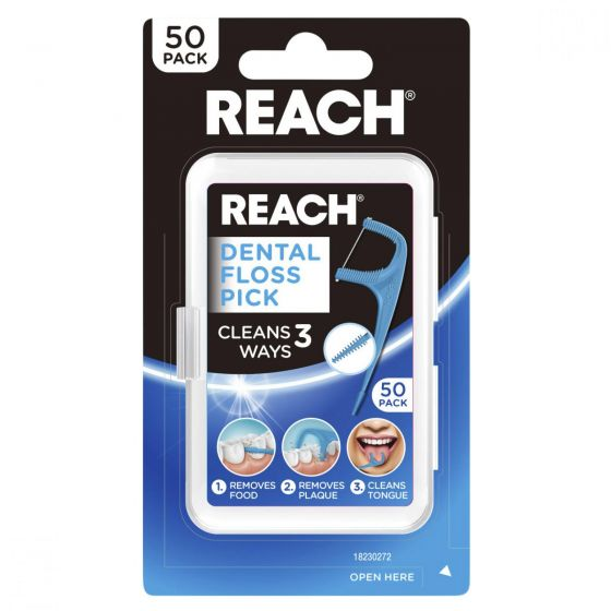 Reach Dental Floss Pick 50 Pack