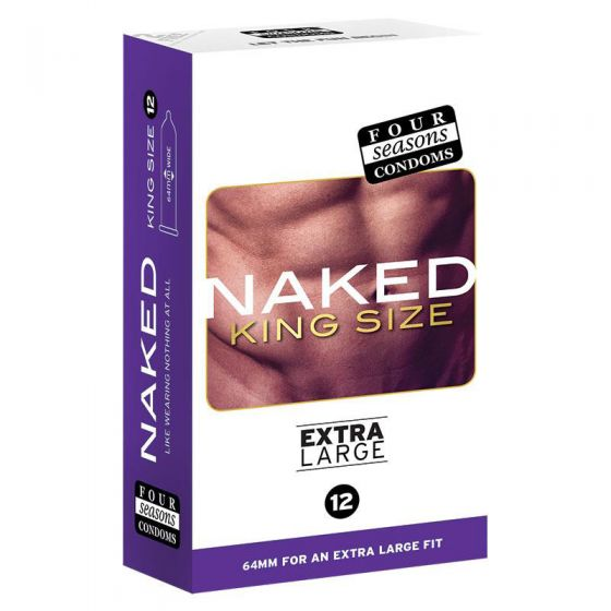 Four Seasons Naked King Size Extra Large Condoms 12 Pack