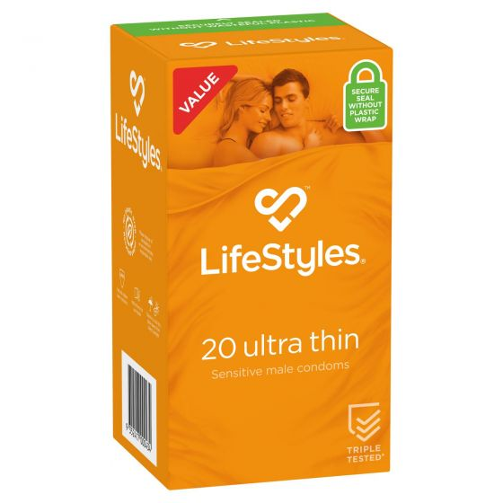 LifeStyles Ultra Thin Condoms 20 Pack
