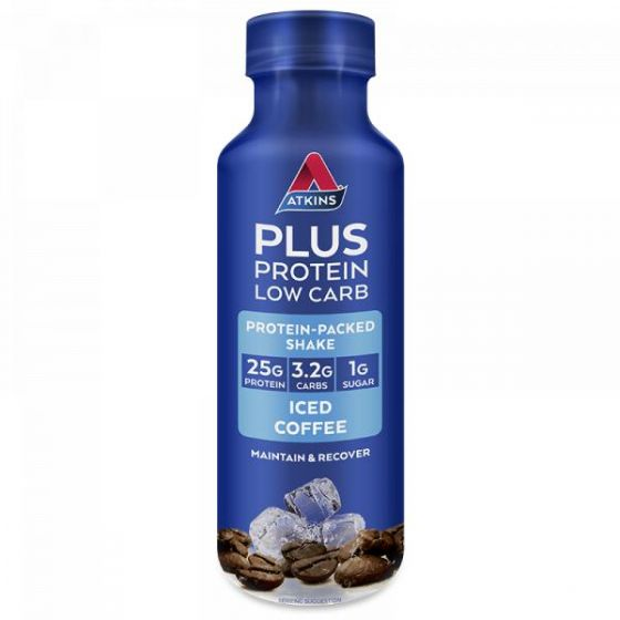 Atkins Plus Protein Low Carb Ice Coffee Protein-Packed Shake 400ml