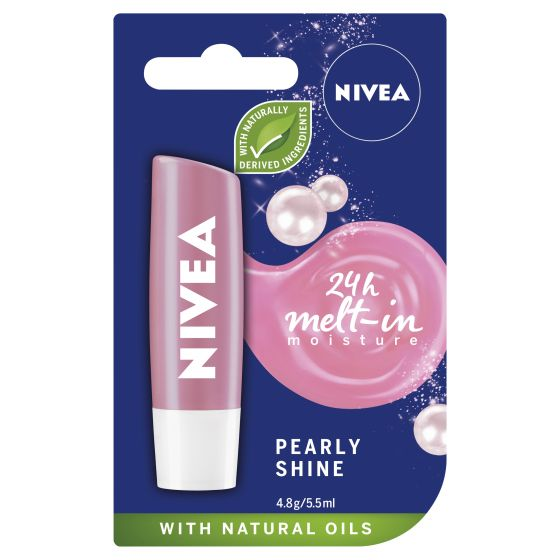 NIVEA Pearly Shine Caring Lip Balm 4.8g