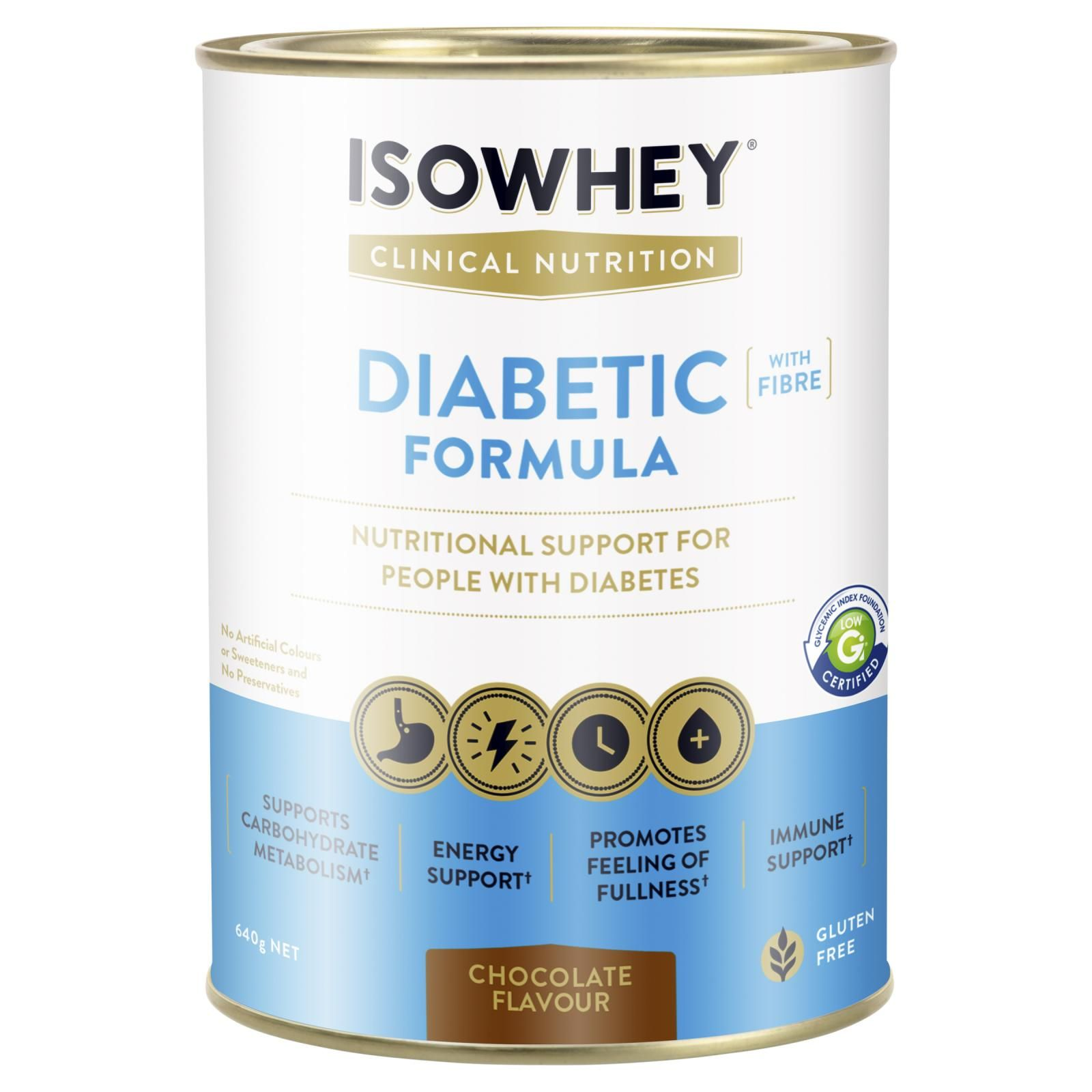 Isowhey Diabetic Formula Ivory Coast Chocolate 640g