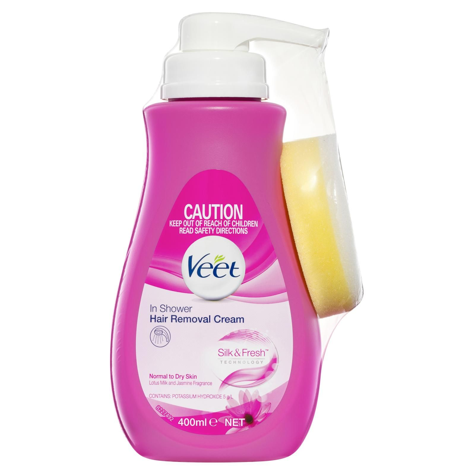 Veet In Shower Removal Cream Normal To Dry Skin 400ml Your