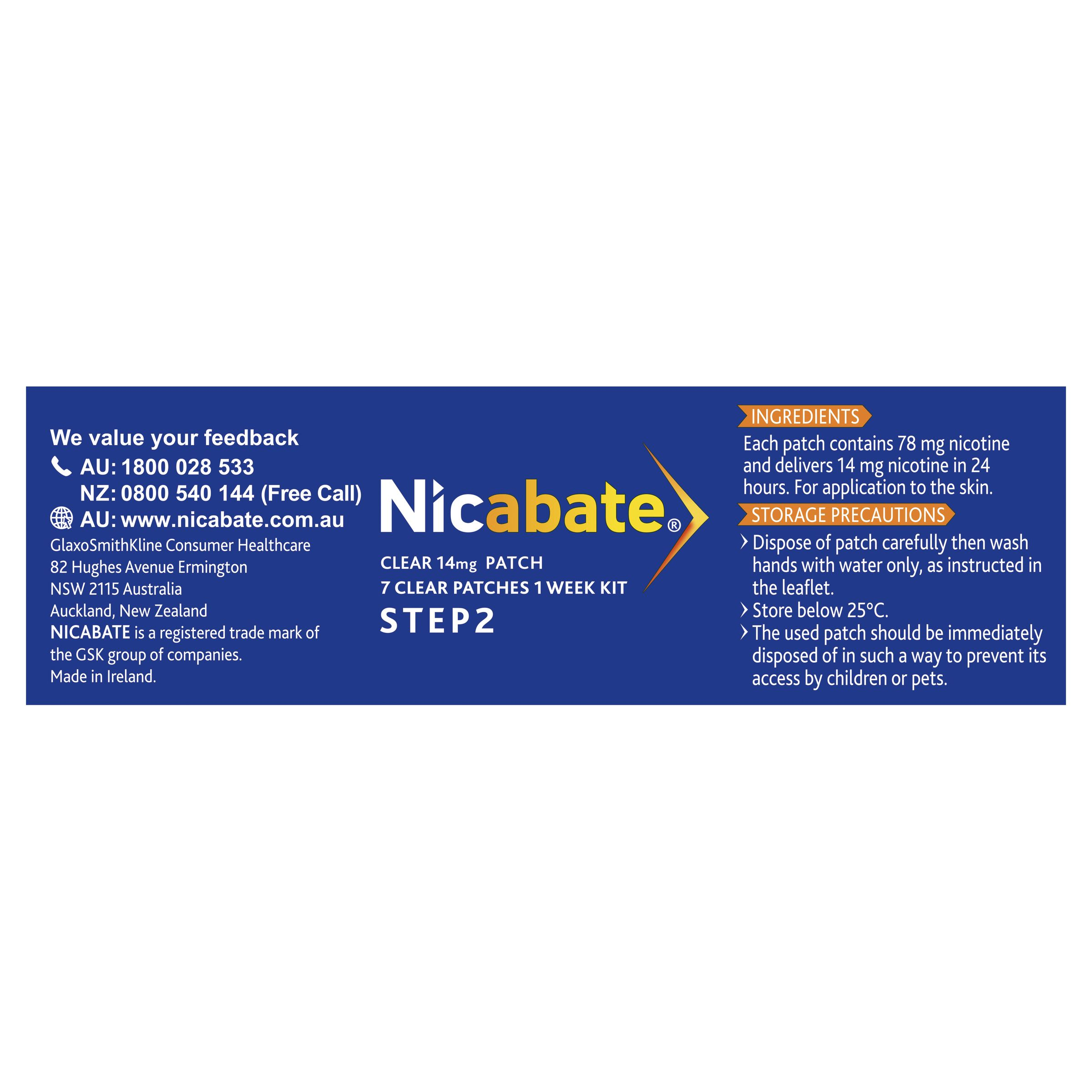 Nicabate CQ Clear 21mg 7 Patches - Your Discount Chemist