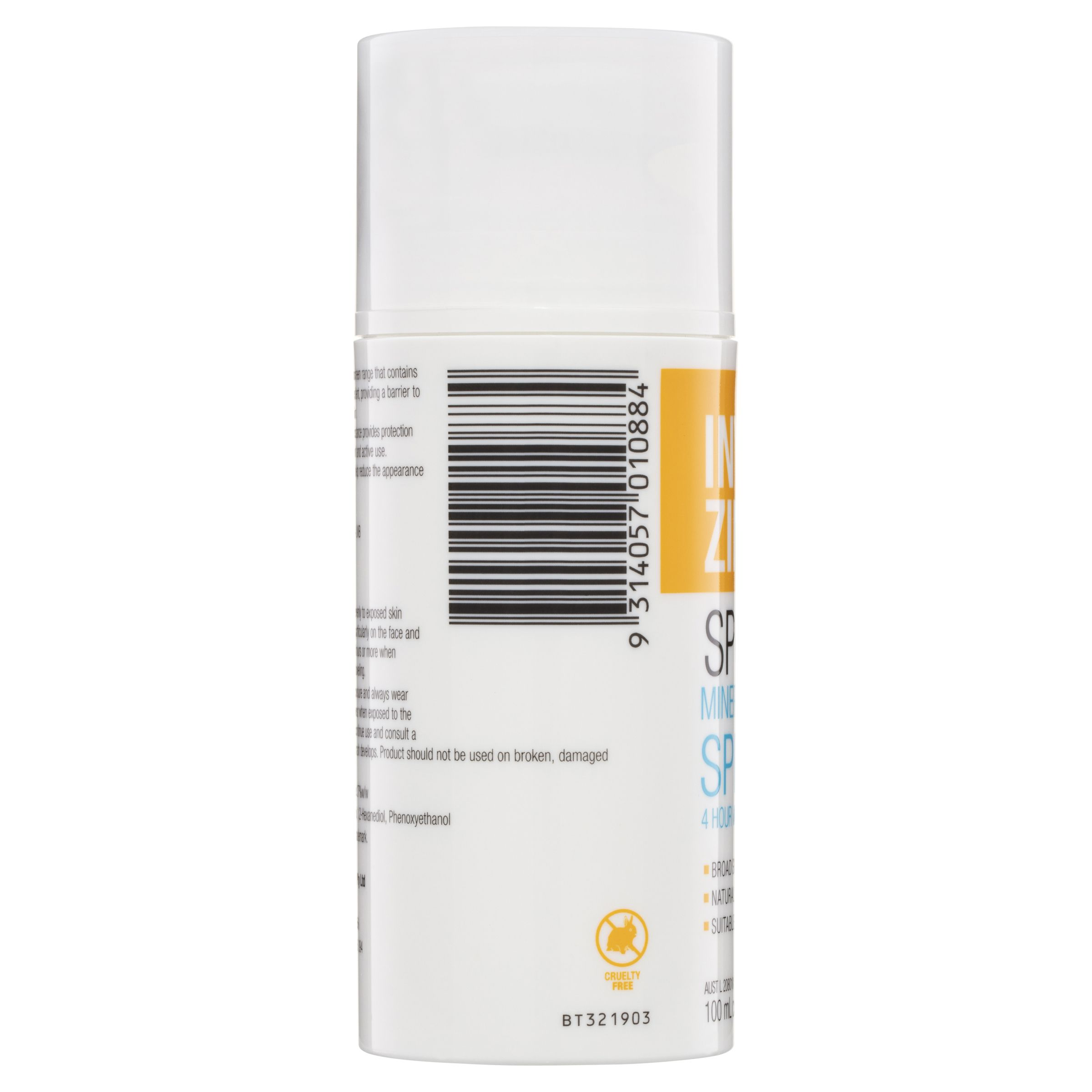 Buy Invisible Zinc SPF 50+ 4 Hour Water Resistant 100ml