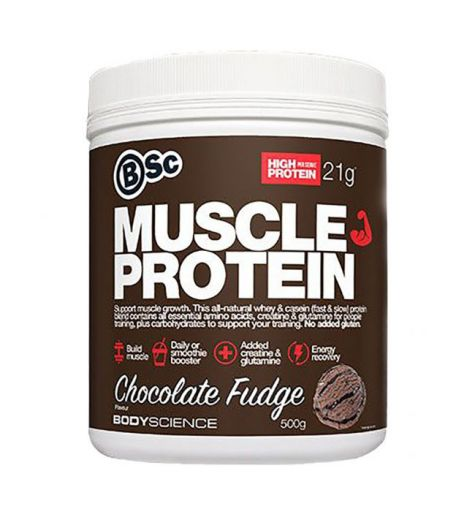 BSC Body Science Muscle Protein Chocolate Fudge 500g