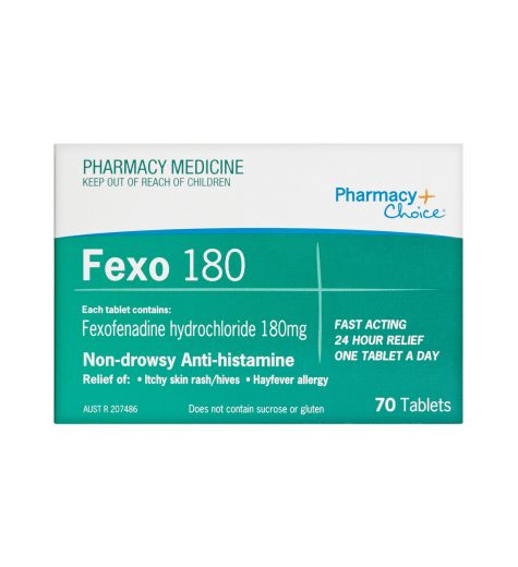 Pharmacy Choice Fexo 180mg 70 Tablets