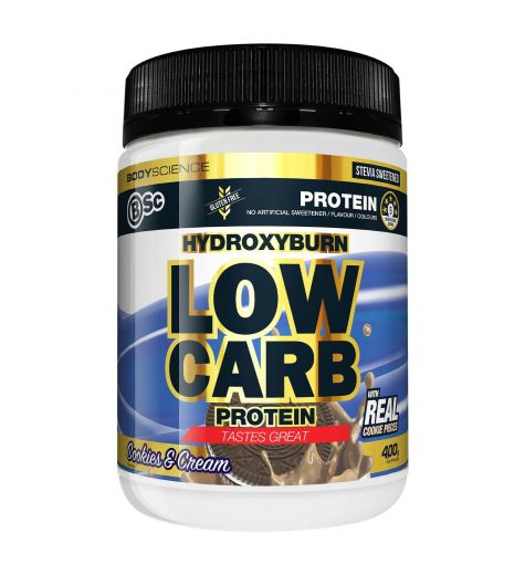 Bsc Hydroxyburn Low Carb Protein Cookies & Cream Flavour 400g