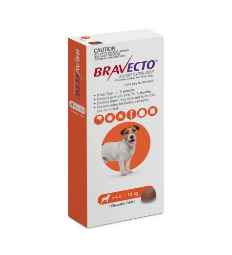 Bravecto For Small Dogs 4.5 - 10kgs (1 Single Chew)