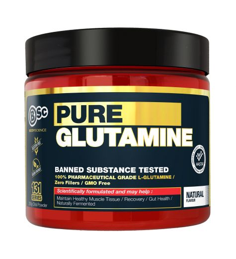BSC Pure Glutamine Natural Flavour 250g