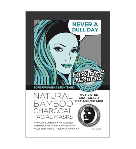 Essenzza Pore Purifying & Brightening Natural Bamboo Charcoal Facial Mask