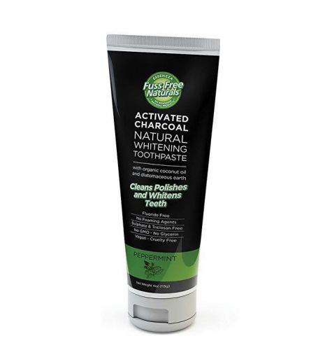 Essenzza Activated Charcoal Natural Whitening Peppermint Toothpaste 113g
