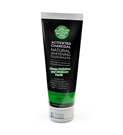 Essenzza Activated Charcoal Natural Whitening Toothpaste Winter Green 113g