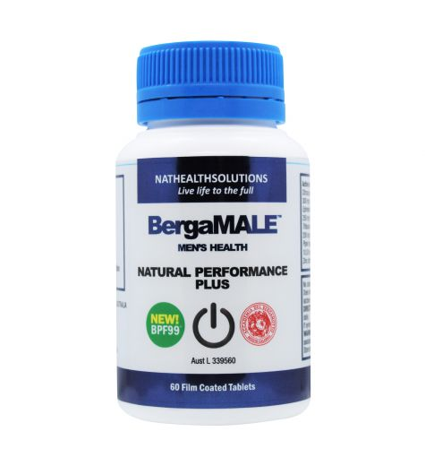 BergaMale Natural Male Enhancer & Cardio Health 60 Tablets