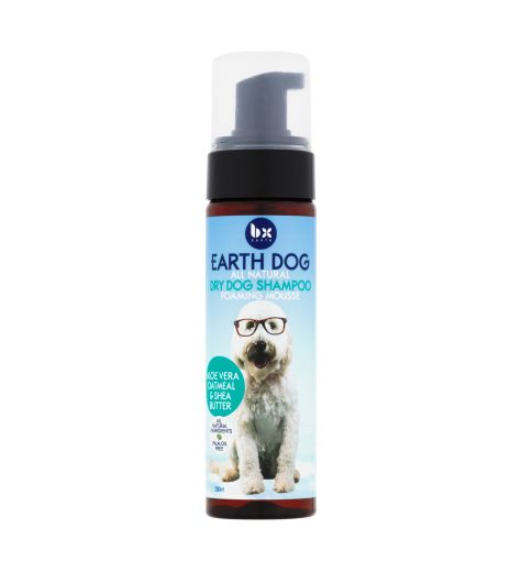 BX Earth All Natural Dry Dog Foaming Mousse Shampoo 200ml