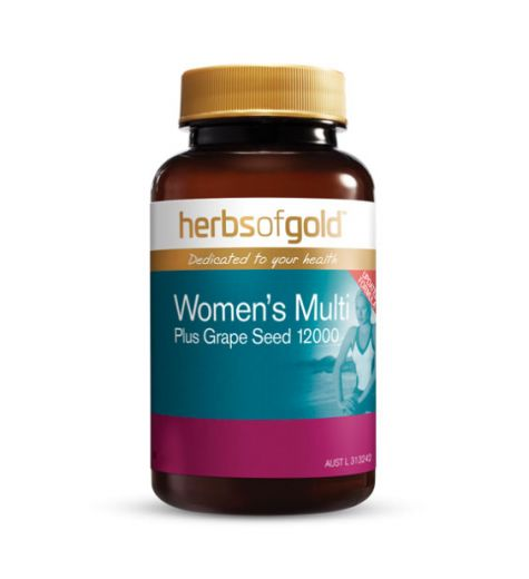 Herbs Of Gold Womens Multi Plus Grape Seed 12000 Tablets 30