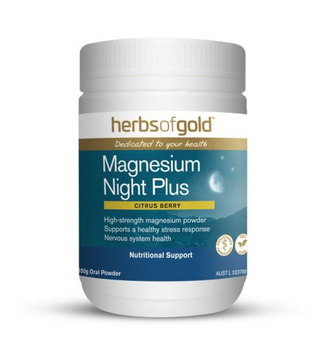 Herbs Of Gold Magnesium Night Plus Oral Powder 150g