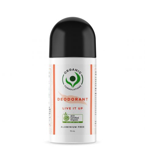 Organic Formulations Live It Up Deodorant 70ml