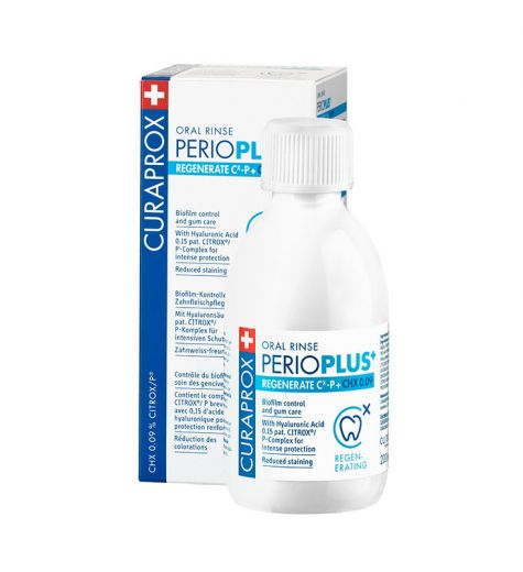Curaprox PerioPlus+ Regenerate Cx-P + CHX 0.09 Oral Rinse 200ml