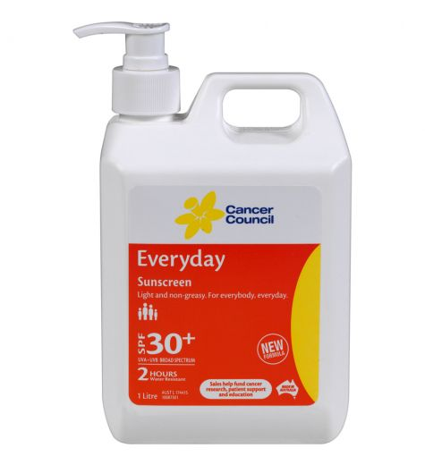 Cancer Council Sunscreen SPF 30+ Everyday Pump 1L