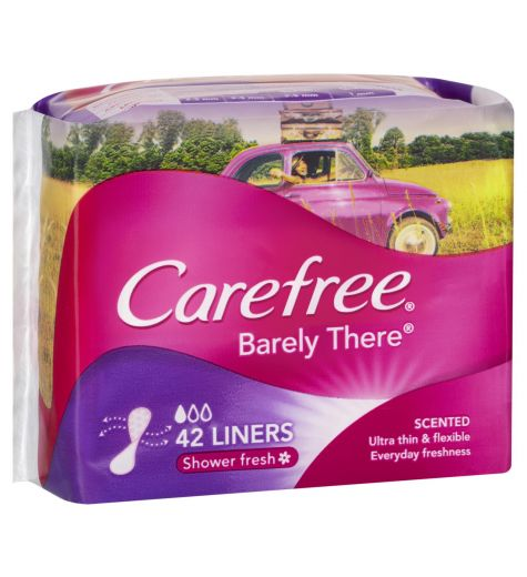 Carefree Barely There Shower Fresh Liners 42
