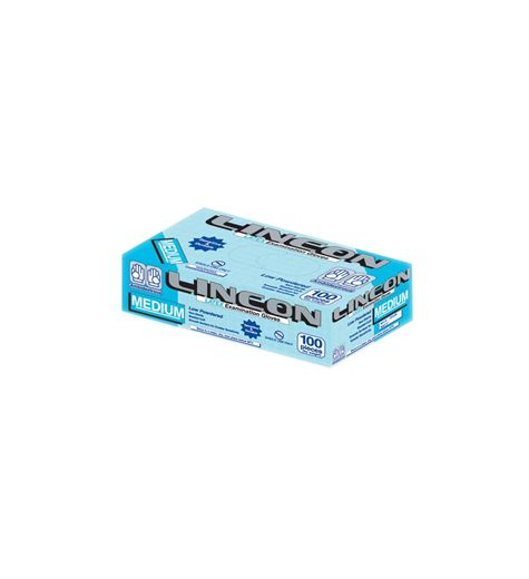 Lincon Powdered Blue Medium Gloves Box Of 100