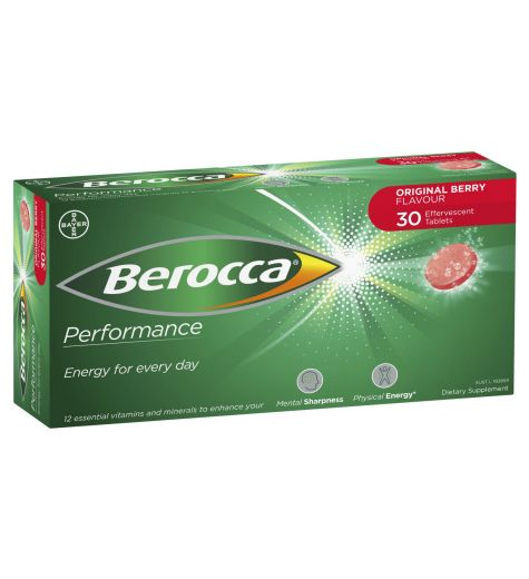 Berocca Performance Effervescent Original Tablets 30
