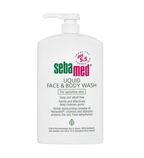 Sebamed Liquid Face & Body Wash Pump For Sensitive Skin 1 Litre