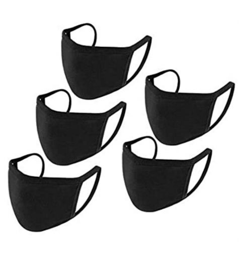 Face Mask Fabric Black 5 Pack