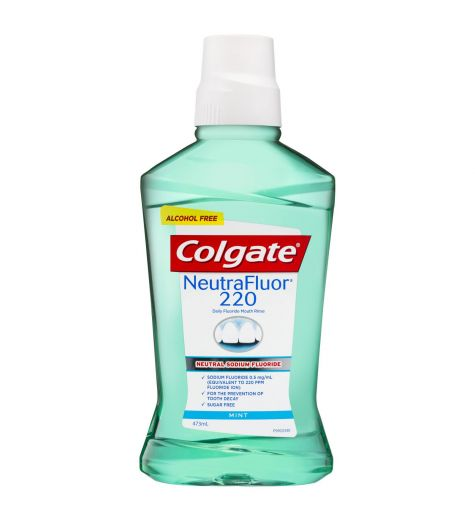 Colgate NeutraFluor 220 Fluoride Mouth Rinse Alcohol Free 473ml