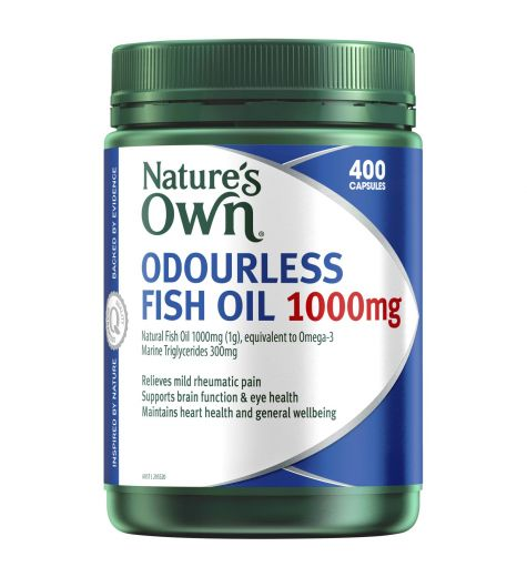Natures Own Odourless Fish Oil 1000mg Capsules 400