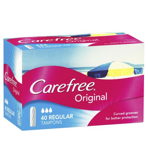 Carefree Tampons 40 Regular