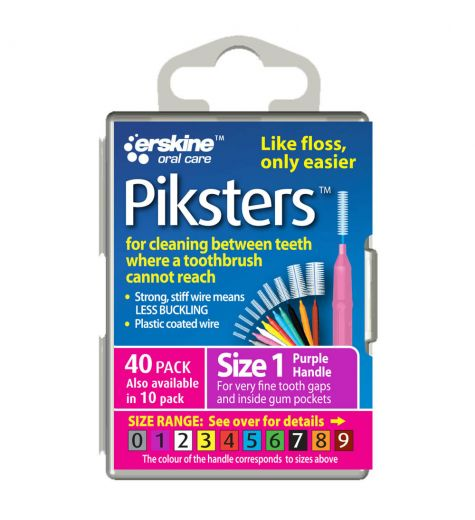Piksters Tooth Cleaner Size 1 40 Pack