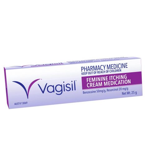 Vagisil Feminine Itching Cream Medication 25g