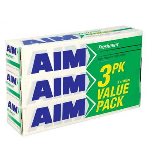 Aim Freshmint Toothpaste 90g 3 Pack