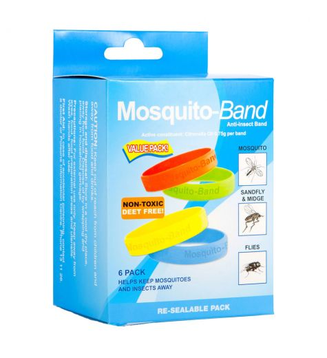 Mosquito Band Anti Insect Band Non Toxic Deet Free 6 Pack