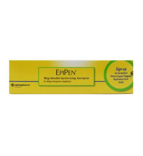 Epipen 300mg Adrenaline Injection Syringe Auto-Injector